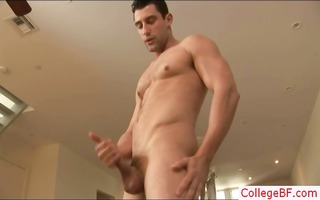 great looking hunk busting his nuts part1