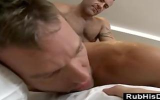 gay bear assfucks str chap on massage table