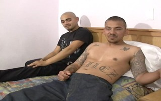 latino guys engulf each other and fuck raw