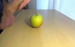 cum on food - apple