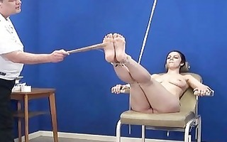 dilettante feet whipping and foot fetish of