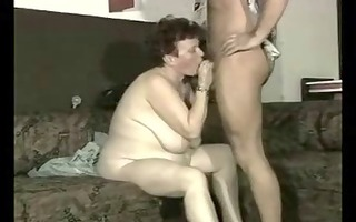 doxy granny hard screwed by younger man.