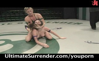 ariel x kicks butt in exposed wrestling!