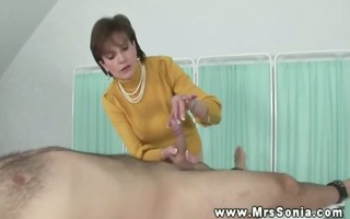mature breasty playgirl plays with jock