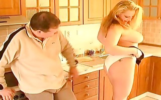 busty dilettante wife oral sex titjob and spunk