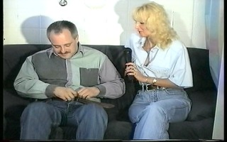 showing interviewer how he is receives a hard-on