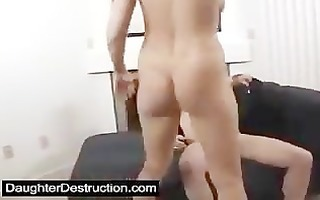 youthful angel pounded hard by large cock