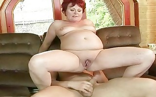 bulky grandma acquires her constricted snatch