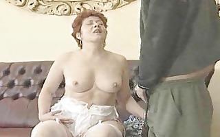 granny in white nylons copulates