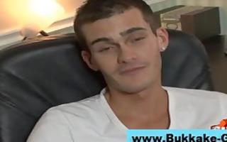 homosexual bukkake lad team fuck group