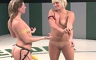 bamboo jealously watches sexy hawt lesbo wrestlers