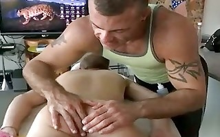 curly muscle weenie sucking homo massages chaps