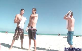 hawt homo trio underneath shower part6