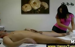 cute asian masseuse pleases her client