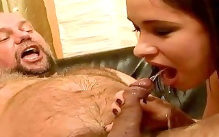 grand-dad fucking and pissing on naughty cutie