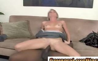 aged interracial hottie receives drilled
