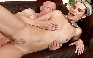 granny giving oral and getting drilled hard
