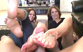mother daughters ally footjob