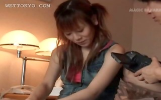 redhead asian teenager getting naked on camera