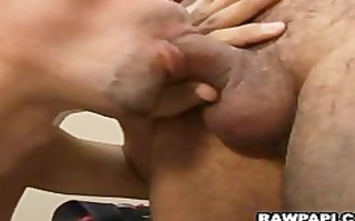 curly boy receives drilled and cumloaded