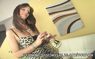 impure milf tossing three-some salad