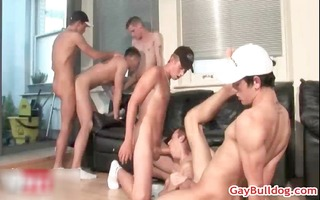 astonishing homo foursome fuck and engulf porno