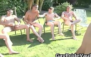 outdoor homo group-sex engulf fest part2