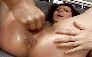 hirsute granny getting her cookie fucked hard