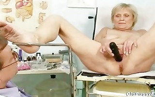 aged old brigita getting cum-hole exam from
