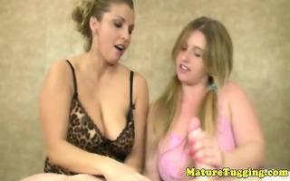 dilettante breasty older milfs sharing wang
