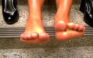hot girl, yummy soles 6