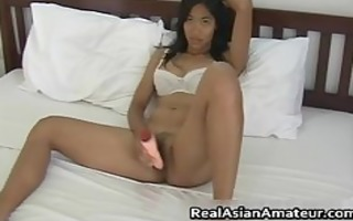 curly bawdy cleft oriental babe cook jerking
