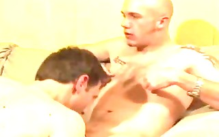 amazing non-professional homo sex on the ottoman