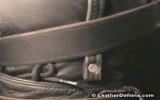 the leather bitch goddess - leather bondage -