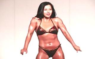 korean bikini beauty oily dance