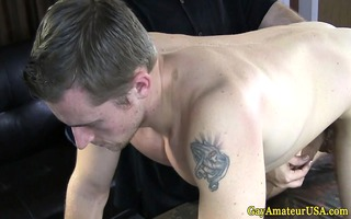 gaystraight non-professional jock tugged off