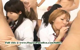 fascinating japanese models give blowjobs and