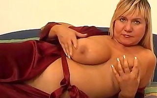 large titted aged bonks herself