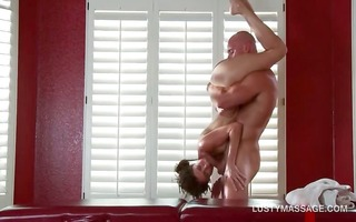 excited masseur licking juicy pink love tunnel on