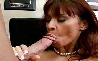 busty randy mother i brunette hair in nylons does