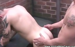 rooftop anal for slutty homo hunks