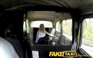 faketaxi sexy blond tourist in st time blow job