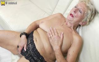 old grandma receives her beaver moist