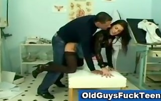 old chap copulates sexy younger honey