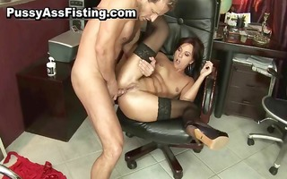 lewd bitch receives her gaping asshole part1