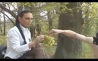 outdoor slave training: boots, servitude &