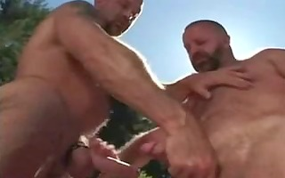 muscle bears fuck near the pool