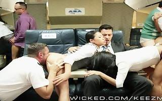 sexy asian fuckfest on a plane