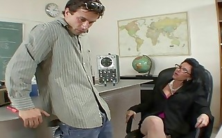 badass milf does blowjob and titsjob for student