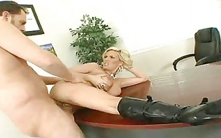 breasty blond with large pointer sisters and dark